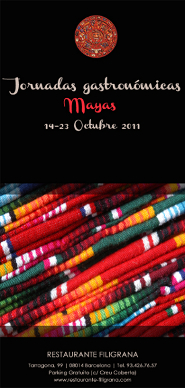 Jornadas gastronómicas mayas en el restaurante Filigrana