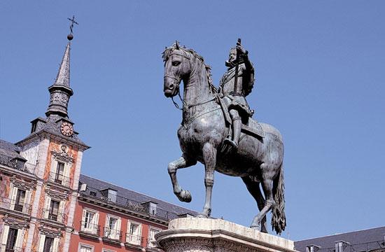 Plaza Mayor de Madrid - Estatua de Felipe III