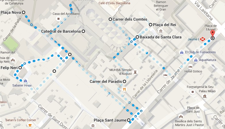 ruta barrio gotico barcelona
