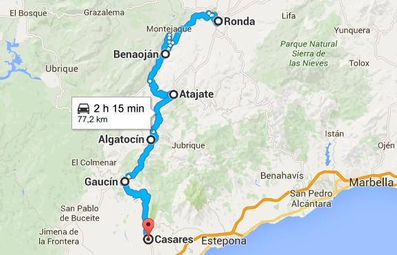 Mapa Pueblos Blancos Cadiz.Ruta Por Los Pueblos Blancos De Malaga Catalonia Hotels