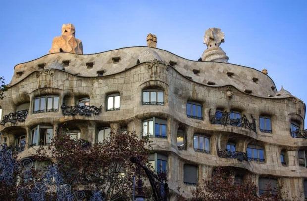 Casa Mila en ruta Gaudí Barcelona